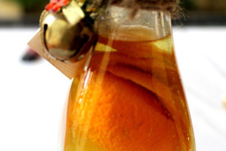 Homemade orangecello