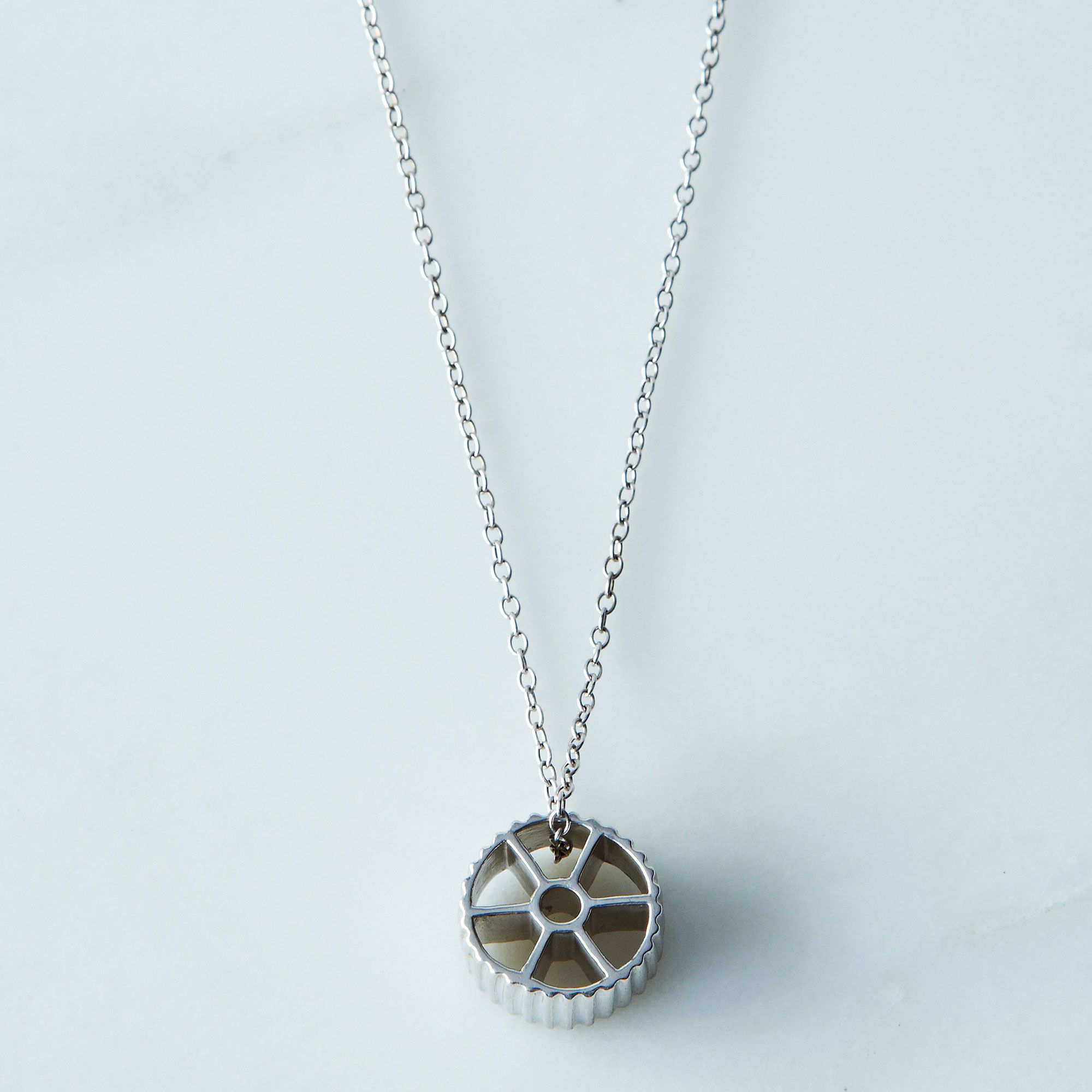 Rotelle Pasta Necklace - Silver