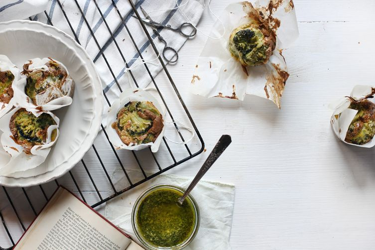 Moufflées - Pesto Soufflé Frittata Muffins Recipe on Food52