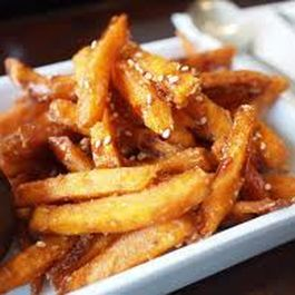 Spiced Korean Yam Fries with Wasabi Garlic Aioli