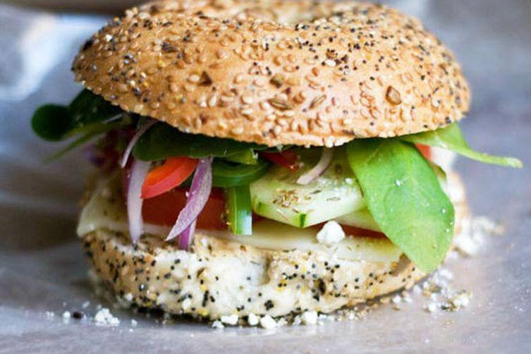 Fresh Veggie Bagel Sandwich - Snacks Recipe on Food52