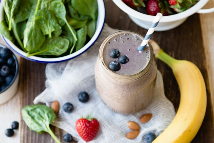 Berry Protein Green Smoothie