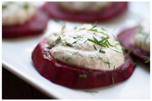 "Beets with Dill ""Cheese"""