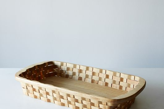 Wood Serving Basket