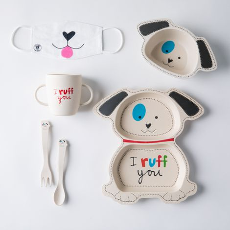 Playful Bamboo Kids' Dinnerware Set + Bonus Kids' Face Mask (Limited Time)