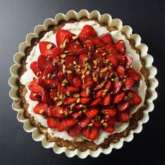 Strawberry Oatmeal Cookie Tart