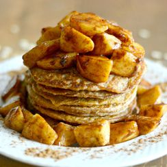 Apple Cinnamon Greek Yogurt Pancakes