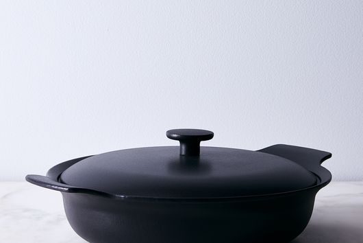 Modern Cast Iron Deep Lidded Skillet, 11""