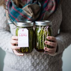 Harissa-Spiced Pickled Haricots Verts