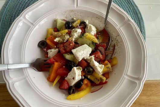 Perfect, Quick WFH Greek Salad