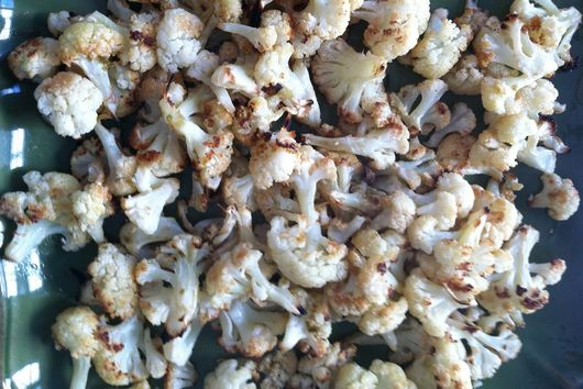 Roasted Cauliflower with Cumin and Lime
