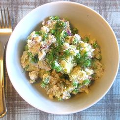 Potato Salad with Peas, Feta and Dill