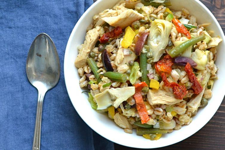 niçoise farro salad