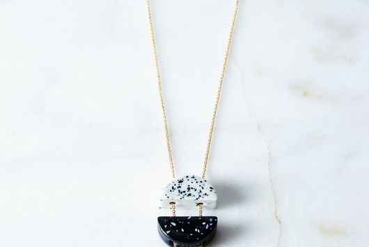 Porcelain Black and White Necklace