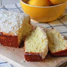 Lemon and coconut quick bread