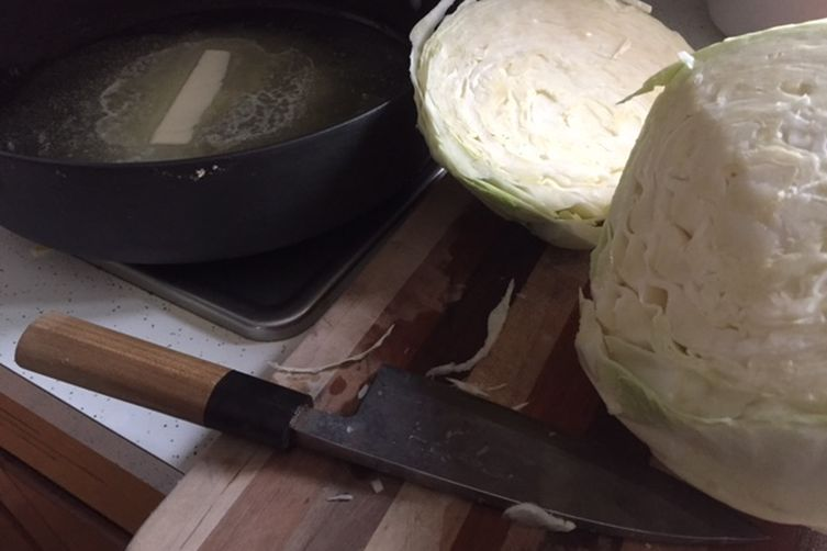 Cabbage melted in butter and cumin