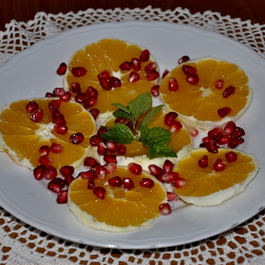 Gianfranco's Boozy Orange and Pomegranate Fruit Salad