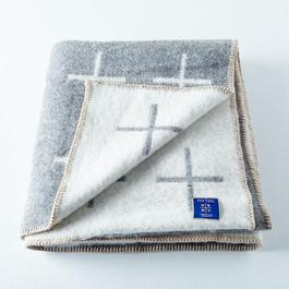 Wool Blend Cross Throw