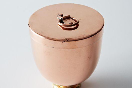 Vintage Copper Ice Cream Bombe c1880