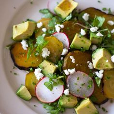 Avocado & Roast Golden Beet Salad