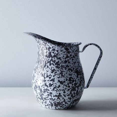 Grey Splatter Enamel Pitcher