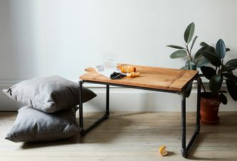 An Easy Pipe Side Table They'll Never Guess You Made Yourself