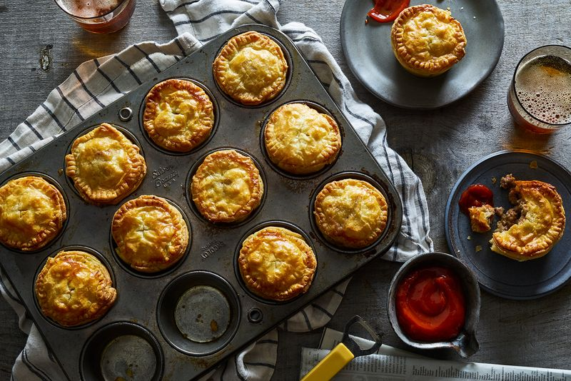 Mince and cheese pies = cheeseburger pies, sort of.