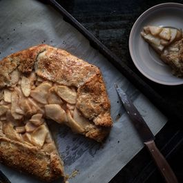 Pear Ginger Galette with Hazelnut Crust