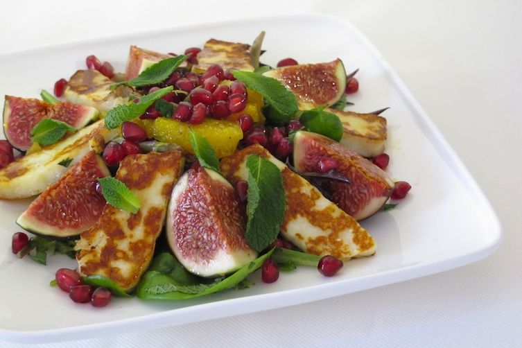 Halloumi, Fig and Pomegranate Salad