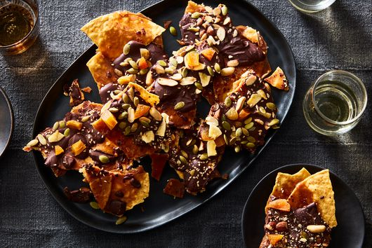 Spicy Tostada Toffee With Toasty, Chewy Toppings