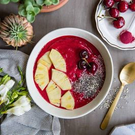 Cherry Pineapple Smoothie Bowl with Beet Root Powder