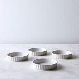 French Porcelain Flan Dish (Set of 4)