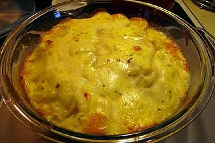 Double Trouble Potato Casserole