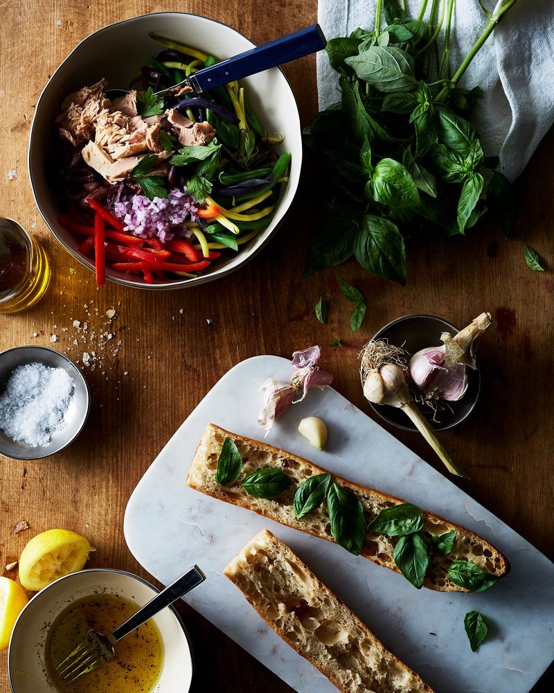 A fancy sandwich bar, the impressive secret weapon for midday parties.