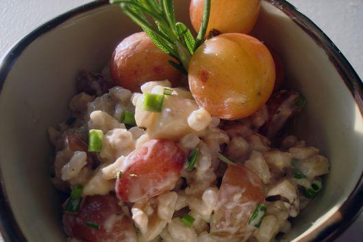 Grape and Brie Barley Salad