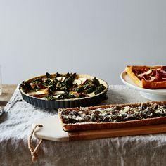 Prosciutto, Pear, Mascarpone & Red Onion Tart