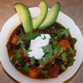 Just Spicy Enough Black Bean and Yam Chili