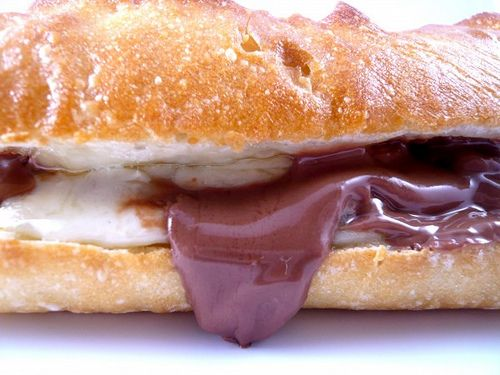 Swiss Cheese & Chocolate Sandwich