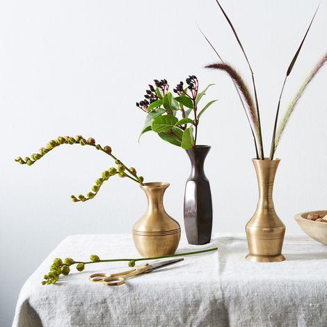 Food52 Vintage-Inspired Brass Bud Vases (Set of 3)
