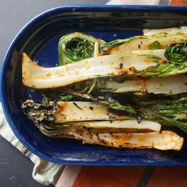 Grilled Bok Choy with Miso Gochujang Butter