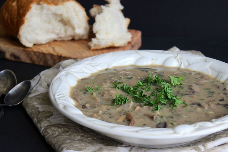 Creamless Cream of Mushroom Soup
