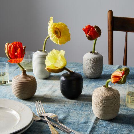 Handmade Textured Bud Vases