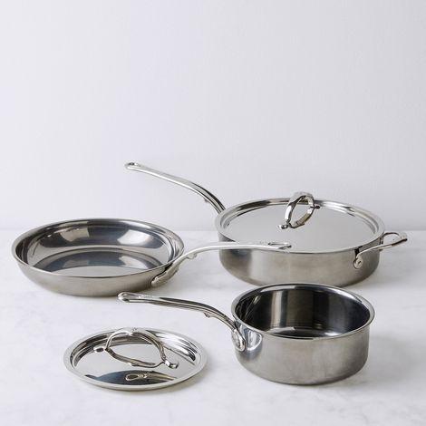 Hestan Nanobond Stainless Steel Cookware, 5 Piece Set