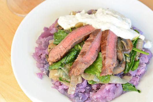 Blue Steak and Potatoes