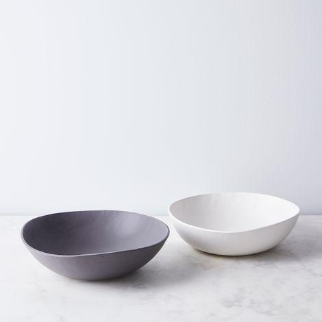 Handmade Wabi Sabi Porcelain Serving Bowl