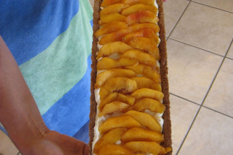 Texas Ginger Peach Tart with Pecan Crust