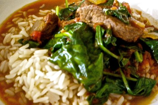 Spinach and Lamb Stew
