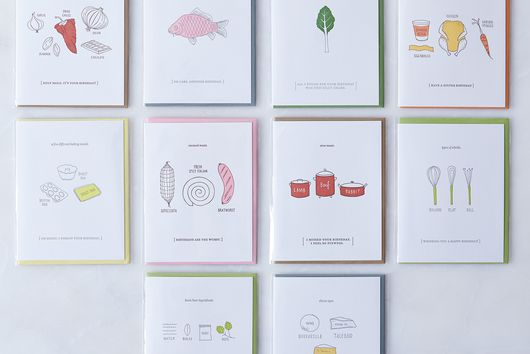 Food-Inspired Birthday Cards (Pack of 10)