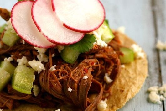 Chile-Braised Brisket Tostadas