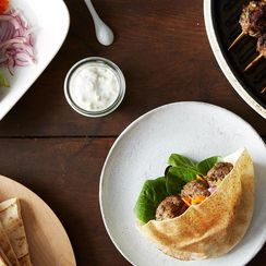 Dinner Tonight: Kofta Pocket with Tzatziki Sauce